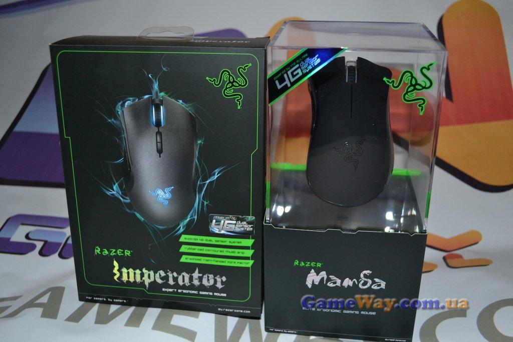 Упковка геймерских мышек Razer Imperator 2012 и Razer Mamba 2012
